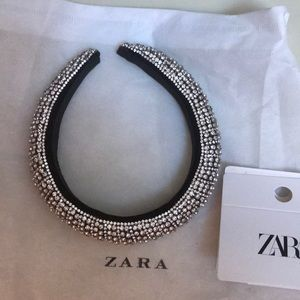 Zara limited edition crystal headband size m.